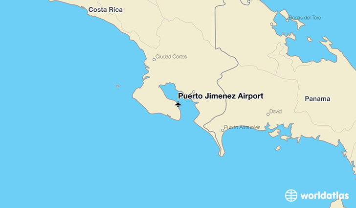 Puerto Jimenez Airport location on a map