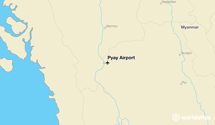 Pyay Airport location on a map