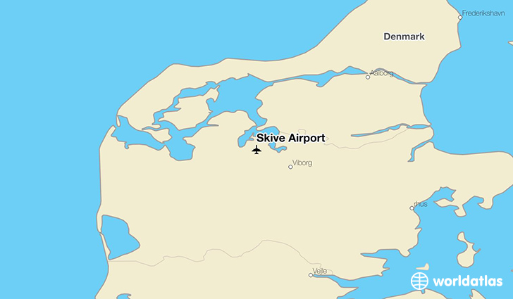 Skive Airport location on a map