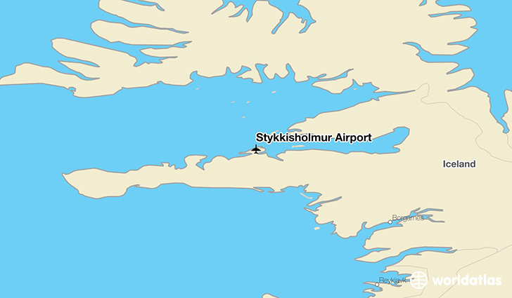 Stykkishólmur Airport location on a map