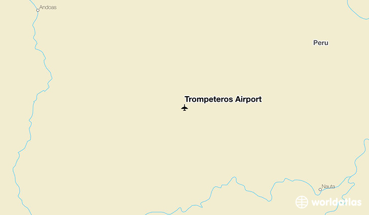 Trompeteros Airport location on a map