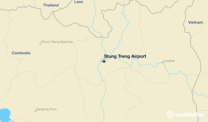 Stung Treng Airport location on a map