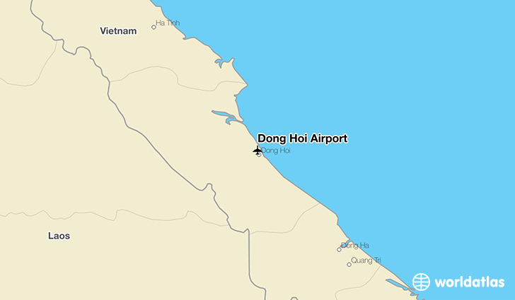 Dong Hoi Airport location on a map