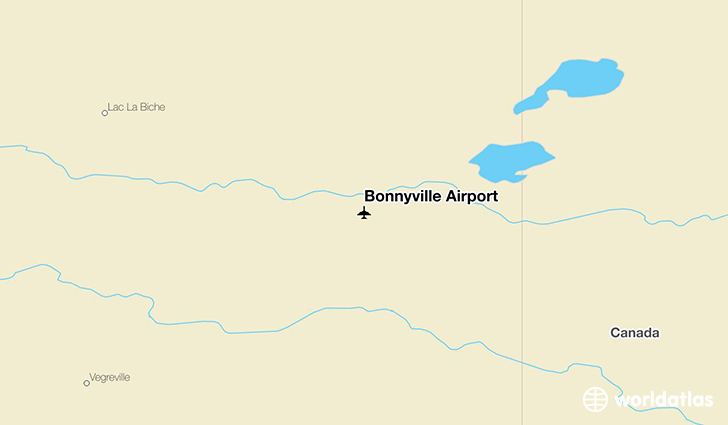 Bonnyville Airport location on a map