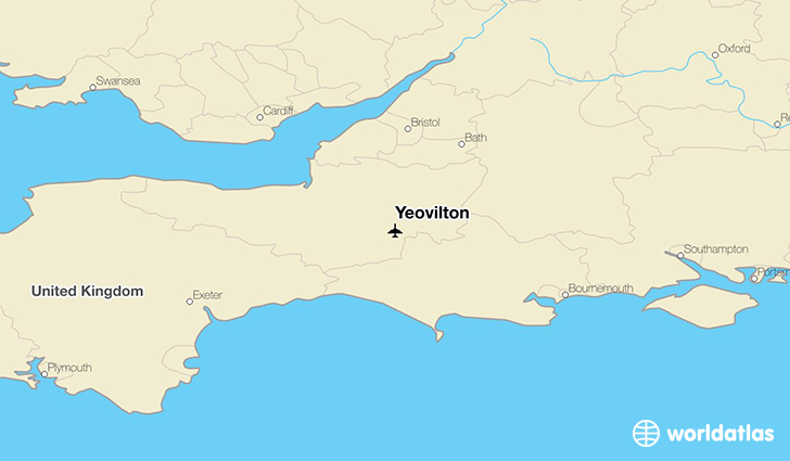 Yeovilton location on a map