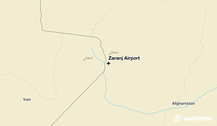 Zaranj Airport location on a map
