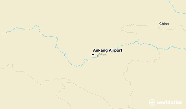 Ankang Airport location on a map