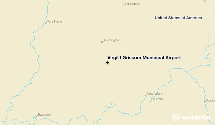 Virgil I Grissom Municipal Airport location on a map