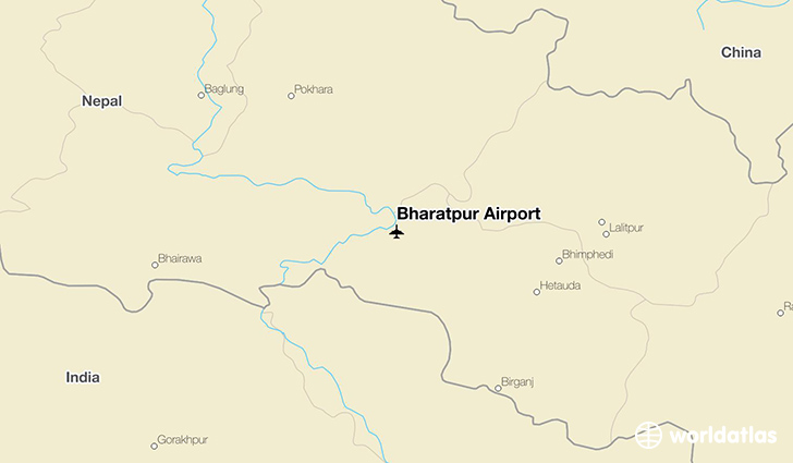 Bharatpur Airport location on a map