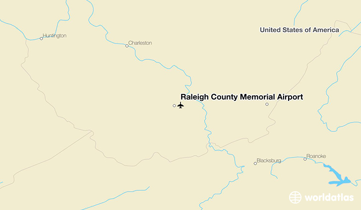 Raleigh County Memorial Airport location on a map