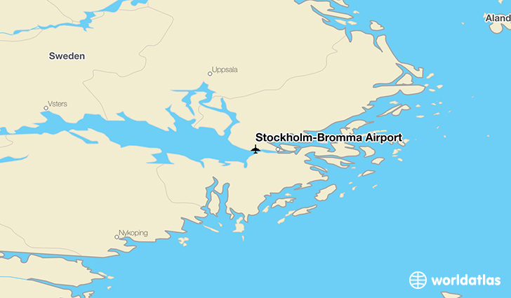 Stockholm-Bromma Airport location on a map