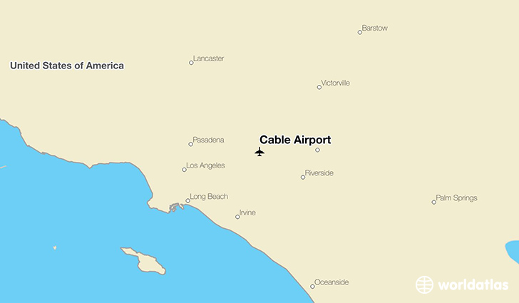 Cable Airport location on a map