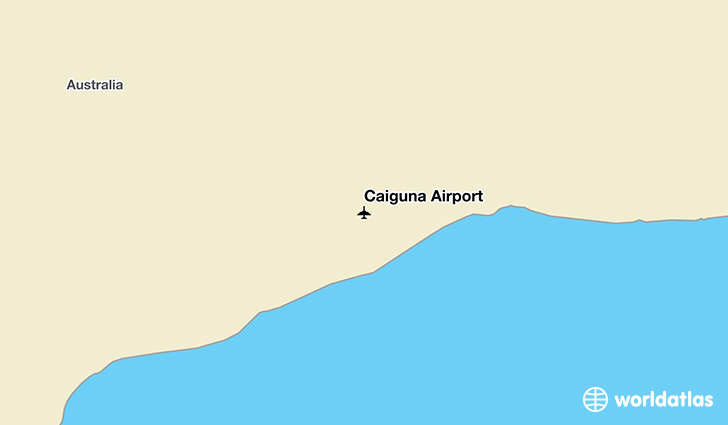 Caiguna Airport location on a map
