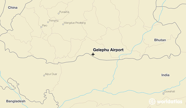 Gelephu Airport location on a map