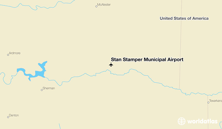 Stan Stamper Municipal Airport location on a map