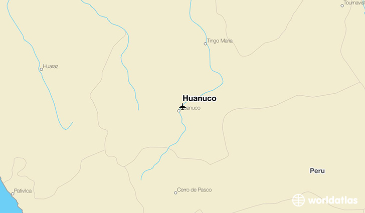 Huanuco location on a map