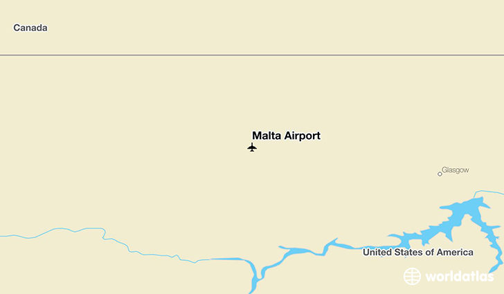 Malta Airport location on a map