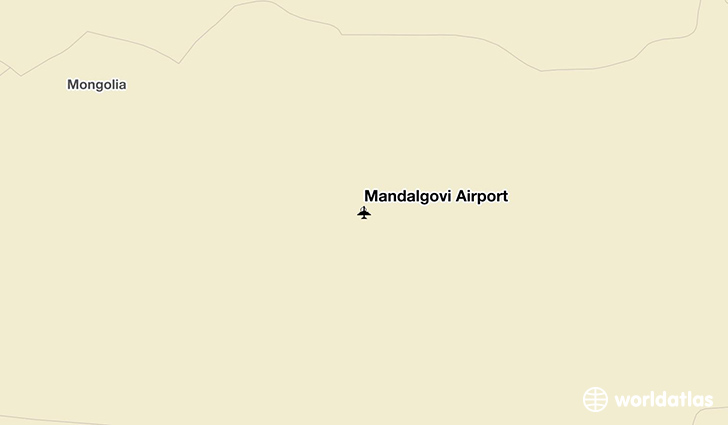 Mandalgovi Airport location on a map