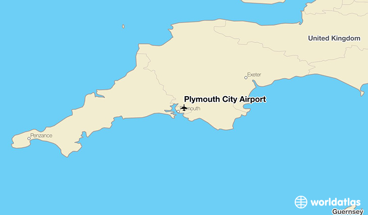 Plymouth City Airport location on a map