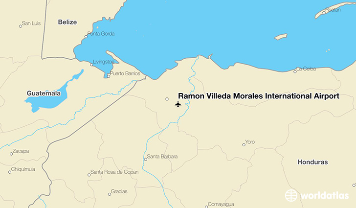Ramón Villeda Morales International Airport location on a map