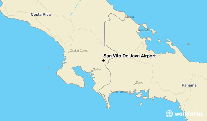 San Vito De Java Airport location on a map