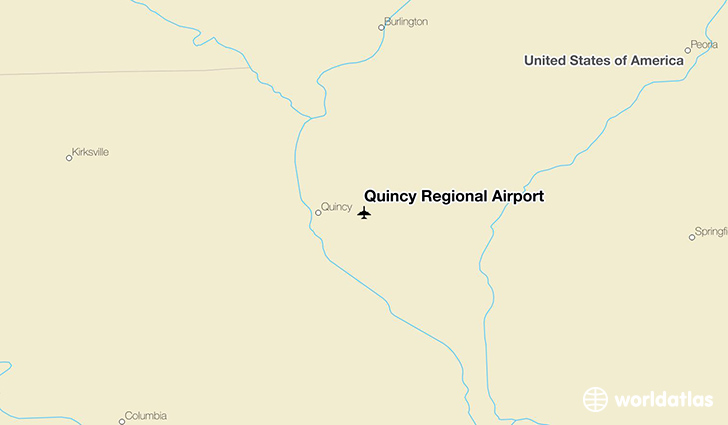 Quincy Regional Airport location on a map