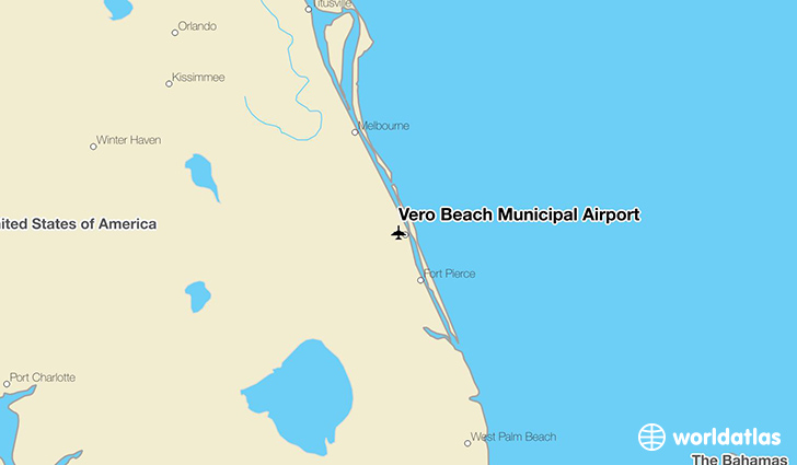 Vero Beach Municipal Airport location on a map