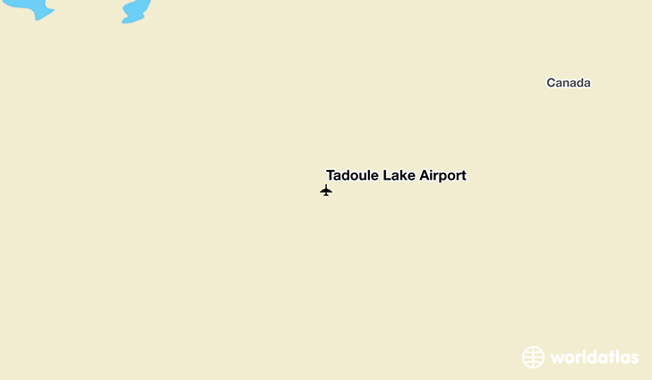 Tadoule Lake Airport location on a map