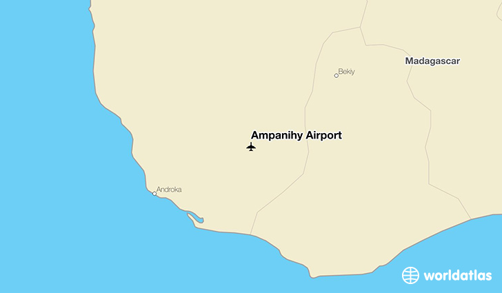 Ampanihy Airport location on a map