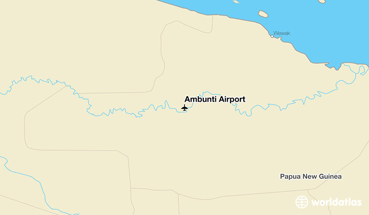 Ambunti Airport location on a map