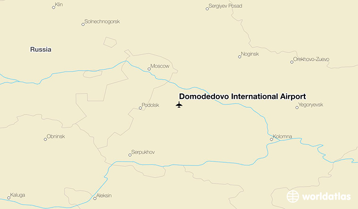 Domodedovo International Airport location on a map