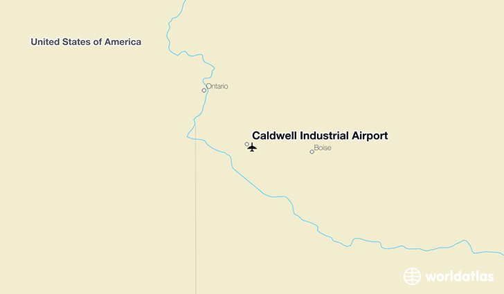 Caldwell Industrial Airport location on a map