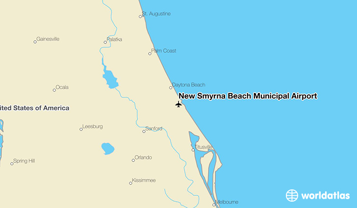 New Smyrna Beach Municipal Airport location on a map