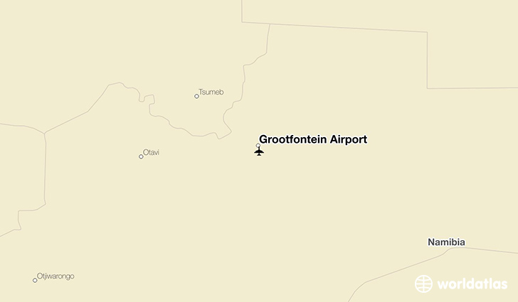 Grootfontein Airport location on a map