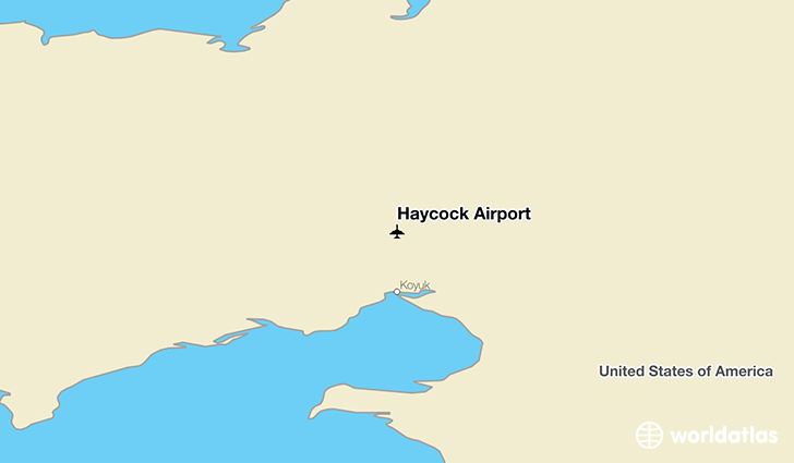 Haycock Airport location on a map