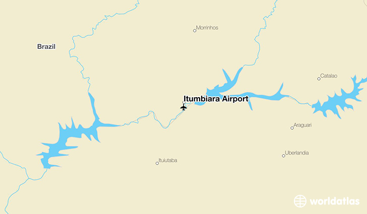 Itumbiara Airport location on a map