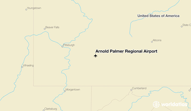 Arnold Palmer Regional Airport location on a map
