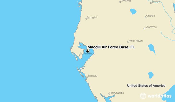 Macdill Air Force Base, Fl. location on a map