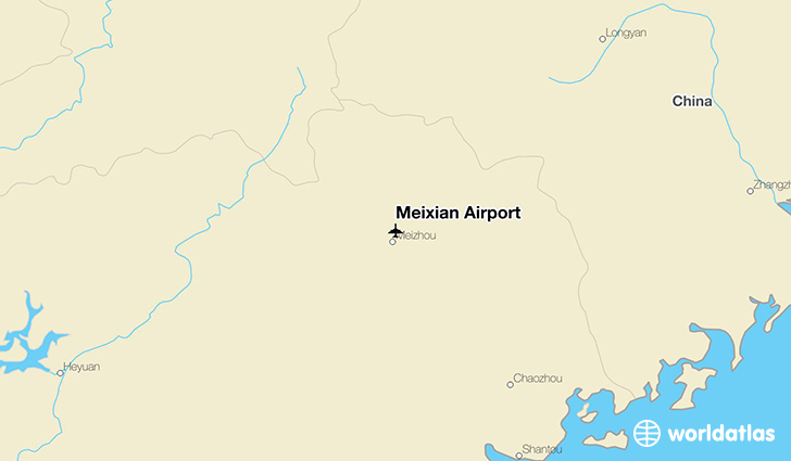 Meixian Airport location on a map