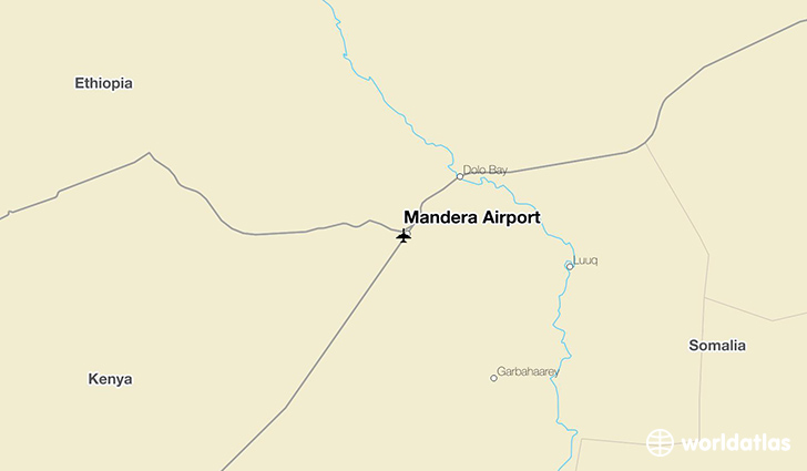 Mandera Airport location on a map