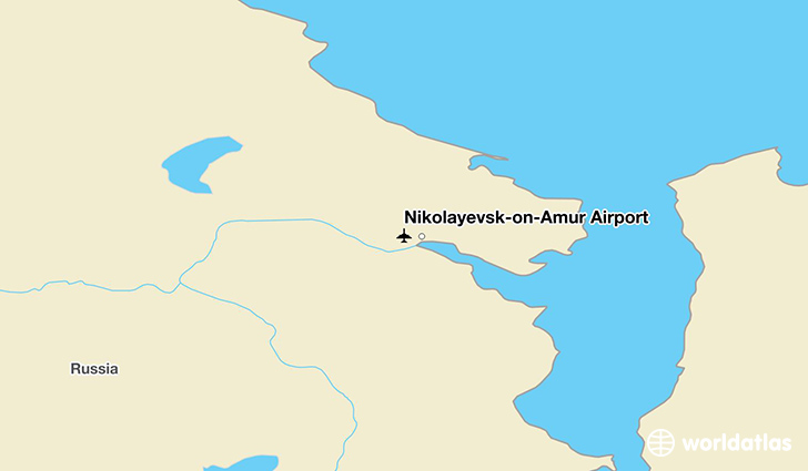 Nikolayevsk-on-Amur Airport location on a map
