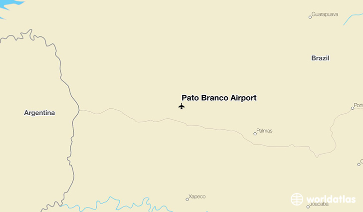 Pato Branco Airport location on a map