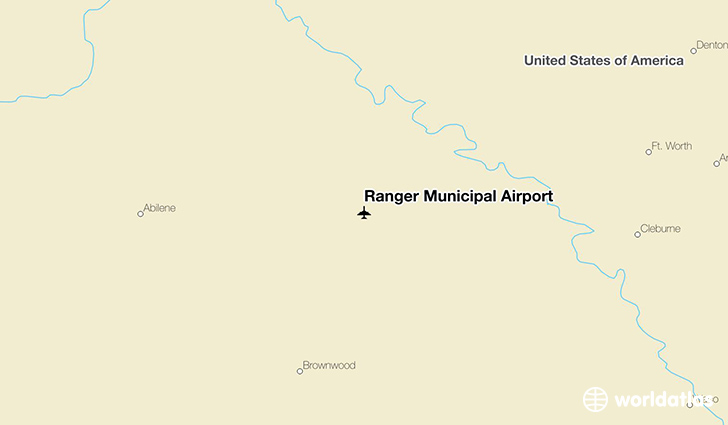 Ranger Municipal Airport location on a map