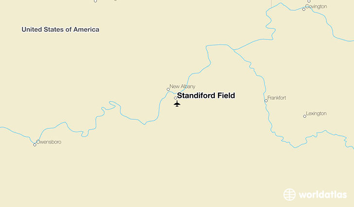 Standiford Field location on a map