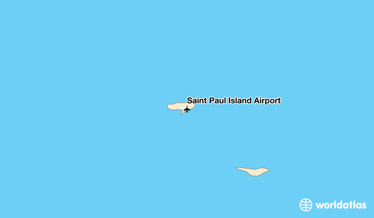 Saint Paul Island Airport location on a map