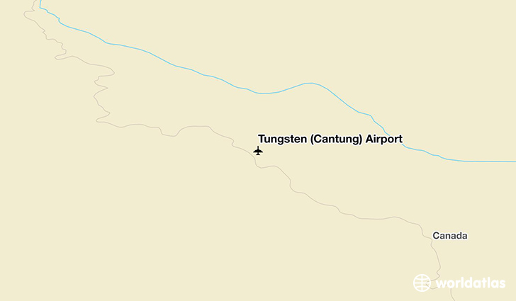 Tungsten (Cantung) Airport location on a map