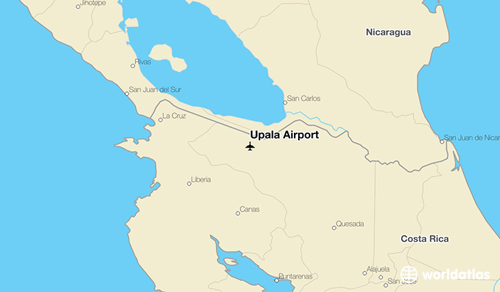 Upala Airport location on a map