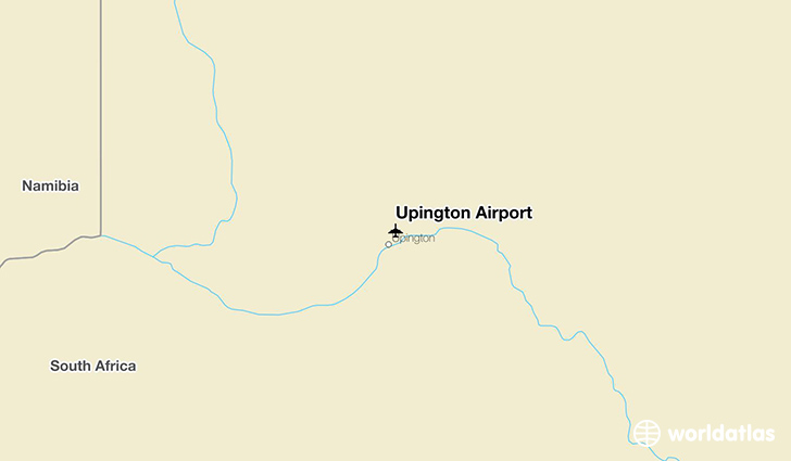Upington Airport location on a map