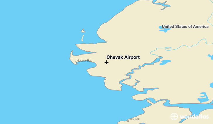 Chevak Airport location on a map
