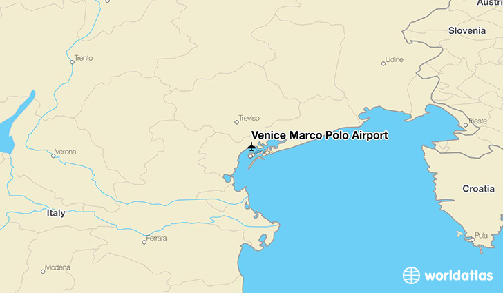 Venice Marco Polo Airport location on a map
